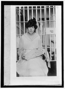 Lucy Burns at Lorton Prison, 1917