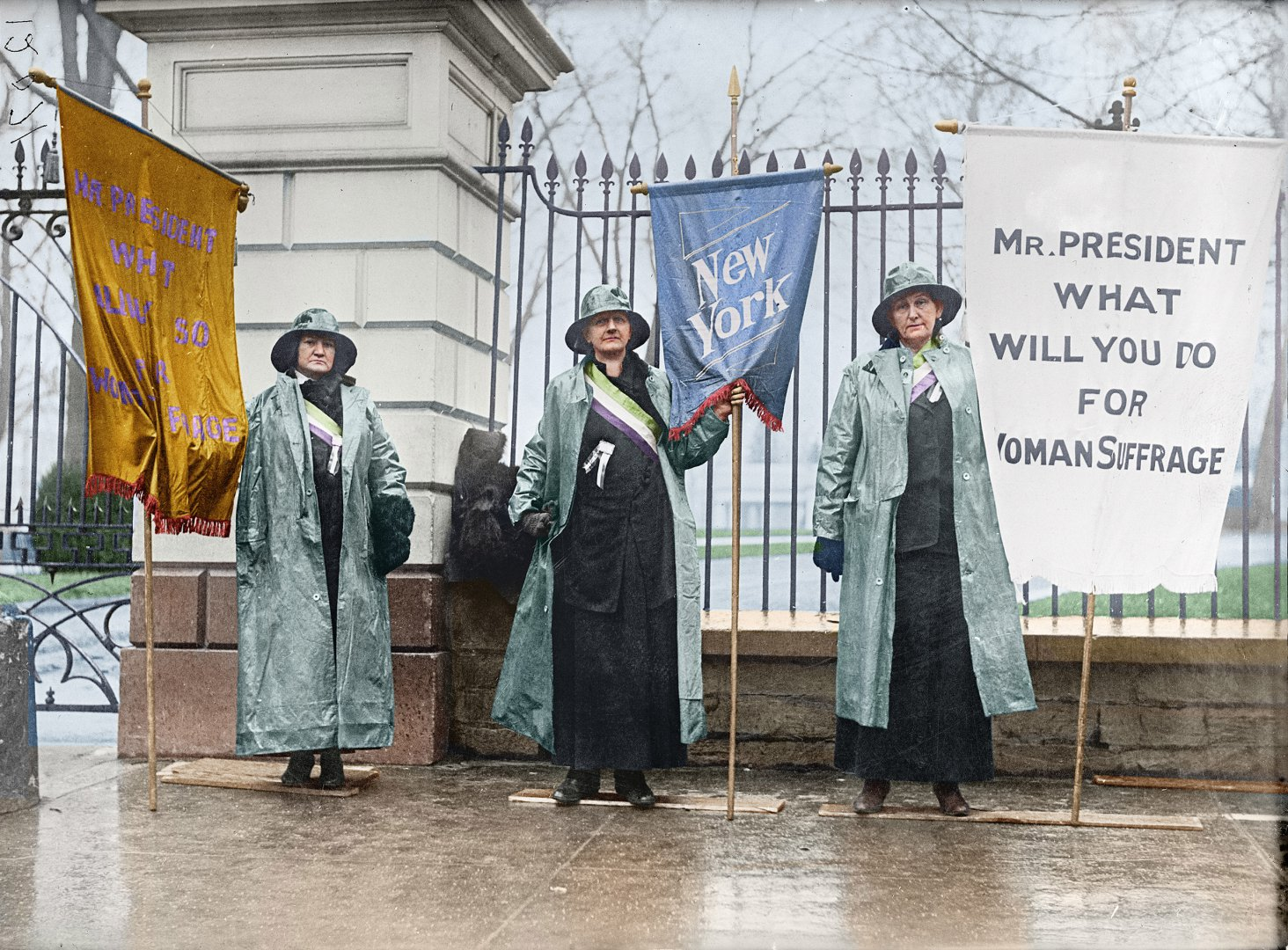 Suffragists Picketing the White House, 1917