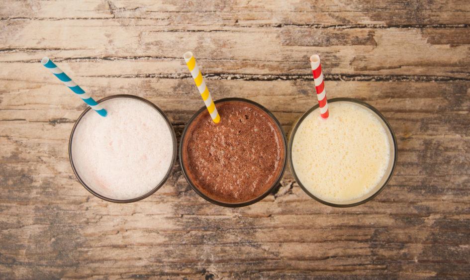 Milkshakes on wooden table - Best ice cream in Northern Virginia