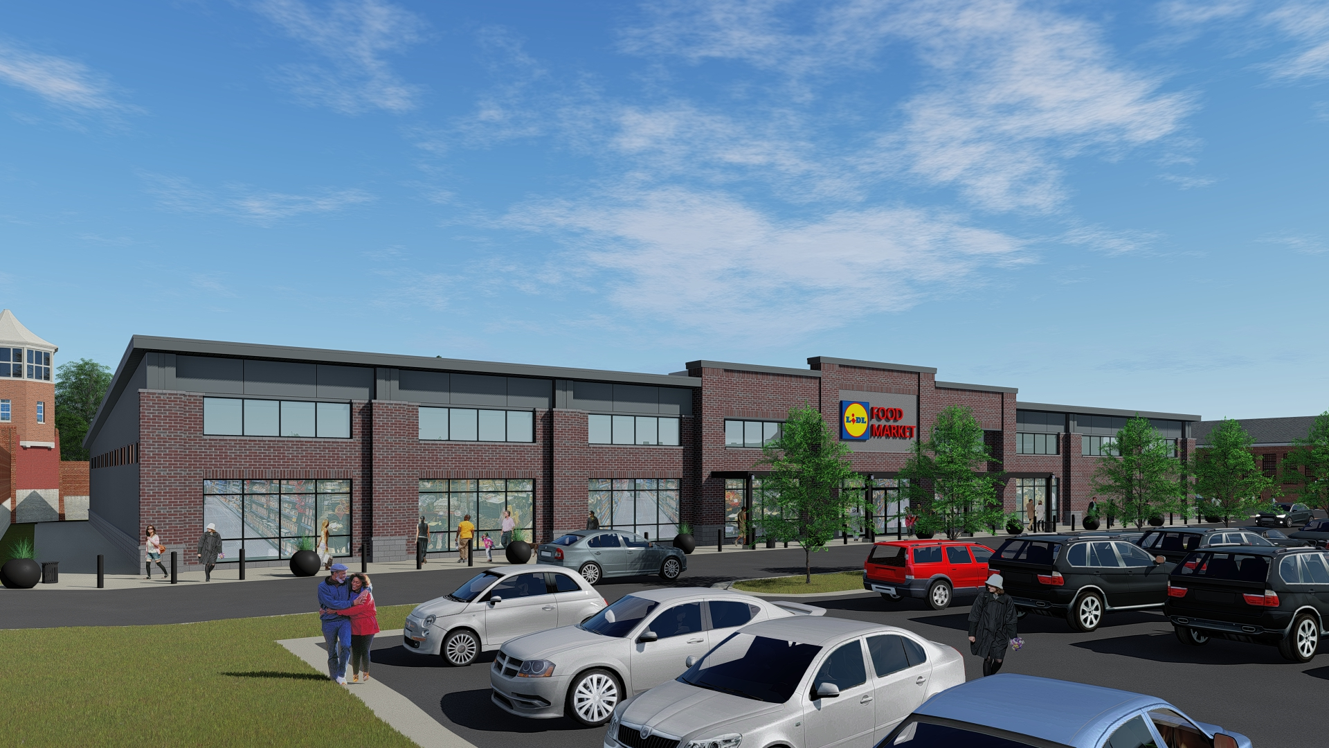 Rendering of the future Lidl at Liberty